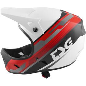 TSG Advance Graphic Design Fietshelm Heren rood/wit
